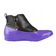 Женские галоши для обуви без каблука, фиалка фото