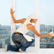 Мытье фасадов и окон. фото