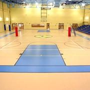 Наливное покрытие для спортивных залов фото
