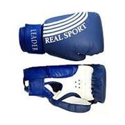 Перчатки боксерские Leader 12 унций, синий фото