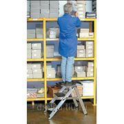 Лестницы-трапы Krause Складной трап из алюминия с оградительной дугой рабочая высота до, 2,70м количество ступеней 3 810250 фото