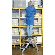 Лестницы-трапы Krause Складной трап из алюминия с оградительной дугой рабочая высота до, 2,90м количество ступеней 4,810267 фото