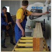 Производство домов из клееного бруса фото