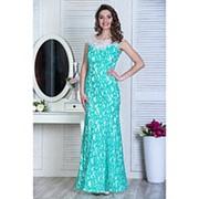 Шикарное вечернее платье макси из дорогого гипюра (3 цвета) фото