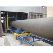 Установка дробемётная проходная для очистки трубы УДП фото
