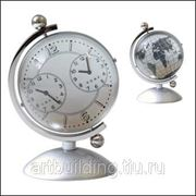 """Часы настольные """"Dual Time Library Globe Pearl"""" фото"""