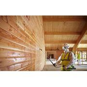 Пропитка древесины антипиренами огнезащитными средствами фото