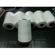 Нитки белые для портативных мешкозашивочных машин - 200ЛШ. 1000 м. фото
