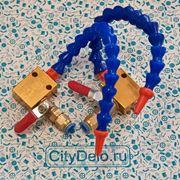 Трубка СОЖ G1/4 + фитинги, крепление, кран фото