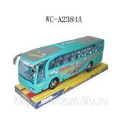 Автобус инерционный, на подставке, 27х8,3х10см (821547) фото