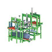 Альфапак-550Д7 автомат для упаковки пиломатериалов в термоусадку. фото
