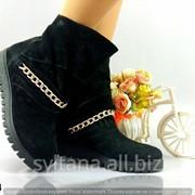 Женские ботинки с мехом код 12434 фото