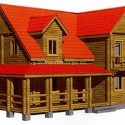 Дом из бревен оцилиндрованных № 2.2 фото