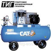 Поршневой компрессор 220В Давление 9 атм Производительность на выходе 356 л/мин. Ресивер 100 л. фото