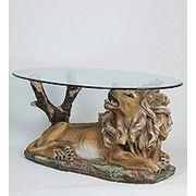 """ALf 09238 статуэтка""""лев на отдыхе"""" + стекло (781583) фото"""