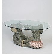 """ALf 09014 статуэтка""""влюблённые слоники""""+ стекло (70*47*32*94) (781541) фото"""