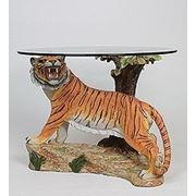 "ALf 09164 статуэтка""тигр под деревом""+ стекло (61*49*42*65) (781578) фото"