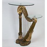 ALf 09150 арфа- статуэтка + 2 стекла (58*108*38*75) (781593) фото