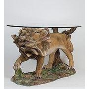 """ALf 09239 статуэтка""""лев на страже""""+ стекло (781582) фото"""