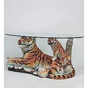 ALf 09104 тигр с тигренком - статуэтка + стекло (101*64*52) (781559) фото
