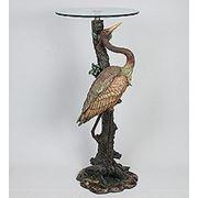 "ALf 09236 статуэтка""цапля у дерева""+ стекло (781586) фото"