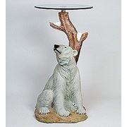 "ALf 09160 статуэтка""белый медведь""+ стекло (58*86*45*46) (781575) фото"