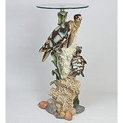 """ALf 09158 статуэтка""""черепаха на коралле""""+ стекло (40*96*45*46) (781574) фото"""