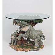 "ALf 09011 статуэтка""слон и слоненок у дерева""+ стекло (42*50*59*64) (781545)"