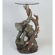 "ALf 09018 статуэтка""слон у дерева""+ стекло (50*95*43*46) (781547) фото"