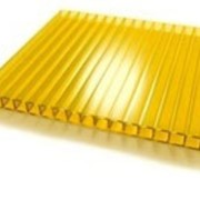 Поликарбонат сотовый 12000х2100х4 желтый фото