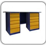 Металлический верстак двухтумбовый (с двумя драйверами) — ВП-6/1.6; ВП-6