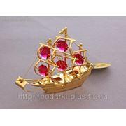 Фигурка Корабль с 5 красными хрусталиками U-3451/GR Кострома фото
