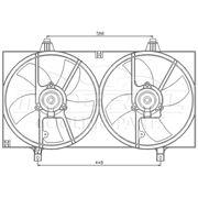 Вентиляторы охлаждения двигателя с мотором в сборе (диффузоры) для Nissan Almera N16 с 2000 г фото