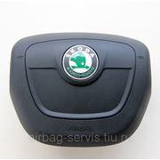 Крышка подушки безопасности водителя Skoda Superb, без хрома 2009-2010 г.в. - доставка по всей России
