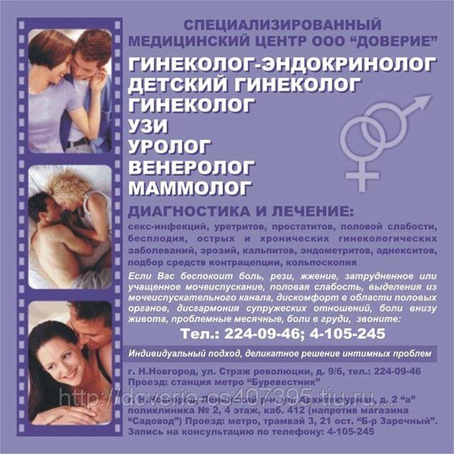 Услуги гинеколога Врач физиотерапевт