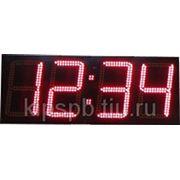 Электронная панель «Часы-термометр» фото