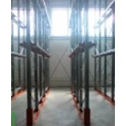 Стеллажный комплекс глубинного типа палетного хранения