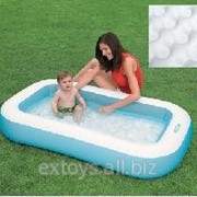 57403 Бассейн ванна с надувным полом 166х100х28см фото