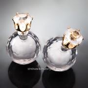 Серьги - шарики ''Dior'' со стразом 216554(5)