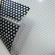 Печать на перфорированной пленке (оракал) для стеклянных фасадов в Алматы фото