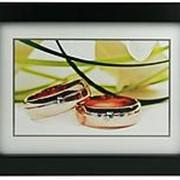"""Картина со стразами """"Обручальные кольца"""" 40*30см. 37704 фото"""