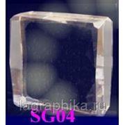 Печать фотографии в стекле. 3D лазерная гравировка. Квадратное толстое 80х80х40
