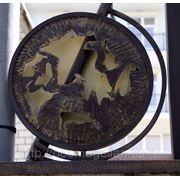 Глобус-декоративный элемент, украшение для ворот № 4