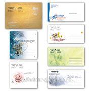 Нанесение картинки или логотипа на конверт (размер до 1/6 лицевой стороны) фото