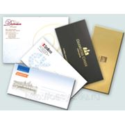 Фирменные конверты, изготовление и печать фирменных конвертов. Срочная цифровая печать конвертов. Цена 100 шт./1050 руб.. фото