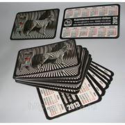 Календарики карманные лакированные со скруглением углов. Лучшая цена. фото