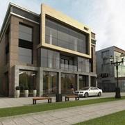 Эскизный проект, торгово-офисное здание, в городе Алматы, по проспекту Суюнбая, 215, общая квадратура 1620 кв.м фото