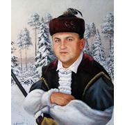 Портрет мужской в старинном белорусском костюме охотника фото