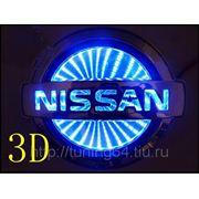 Светящаяся 3D эмблема, для Nissan Tiida