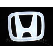 Эмблема светодиодная 4D HONDA 9,8x8см. White